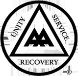 Alcoholic Anonymous Logo, A.A. Logo, A.A. Saint John, A.A. Fredericton, A.A. New Brunswick, Drug and Alcohol Rehab New Brunswick
