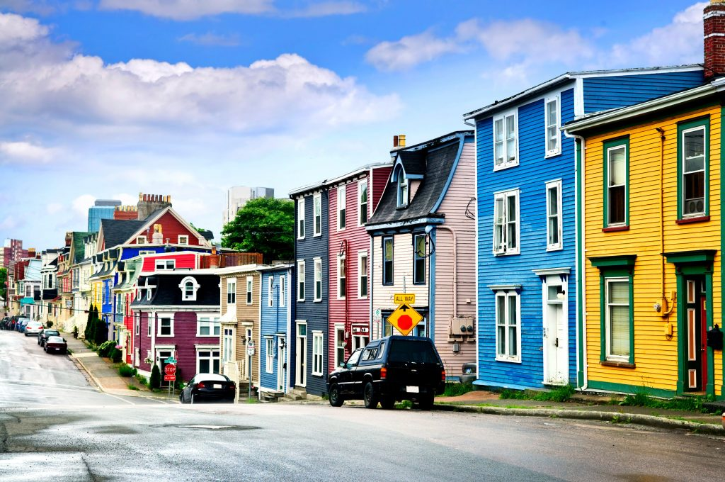 Annapolis Royal, Nova Scotia: A busy street with beautiful colors symbolizes hope and recovery for those attending alcohol rehab.